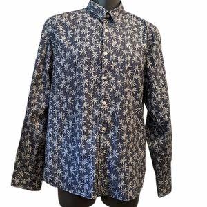 John Lennon floral button front shirt XXL